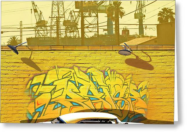 Hot Rod Graffitti Greeting Card by Larry Butterworth