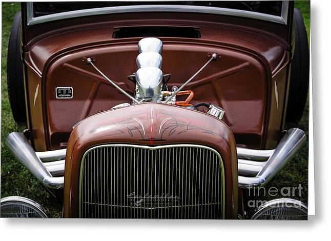 32 Ford Truck Greeting Cards - Hot Rod Motorvation Greeting Card by Customikes Fun Photography and Film Aka K Mikael Wallin