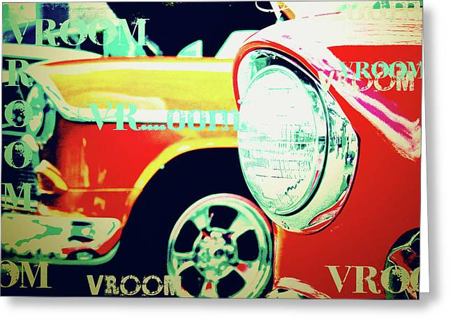 Vroom Greeting Cards - Hot Rods Greeting Card by Toni Hopper
