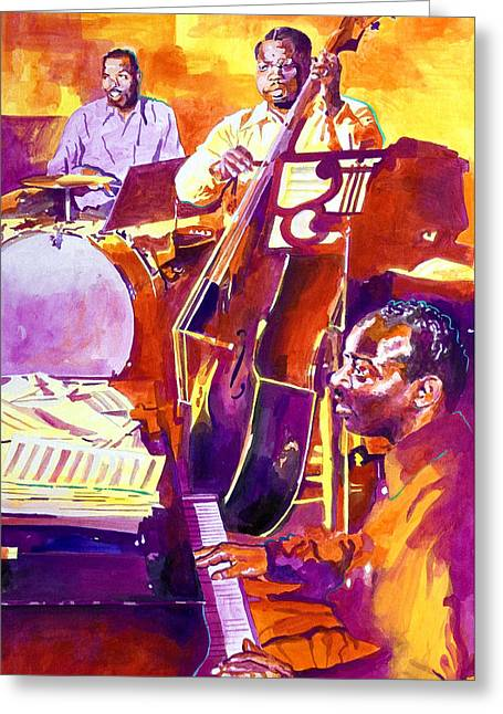 Hot Sessions - Count Basie Greeting Card by David Lloyd Glover