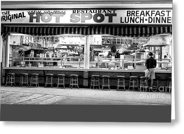 Original Photographs Greeting Cards - Hot Spot Dining Greeting Card by John Rizzuto