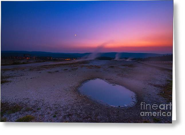 Hot Spring Sunset Greeting Card by Michael Ver Sprill
