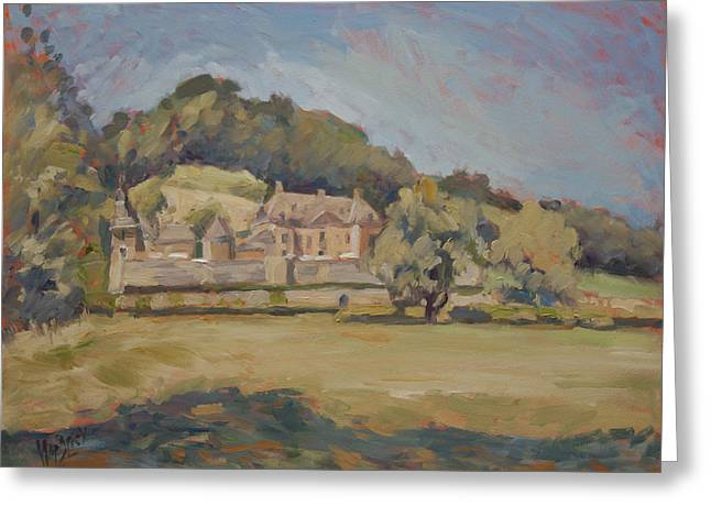 Limburg Greeting Cards - Hot summer day at Chateau Neercanne Greeting Card by Nop Briex