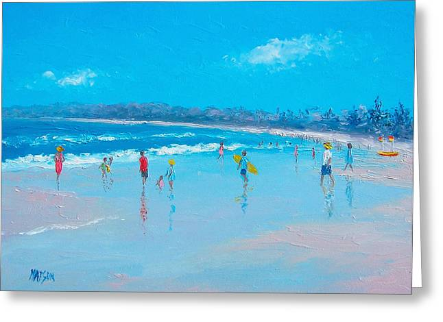 Beach Art Greeting Cards - Hot summers day  Greeting Card by Jan Matson