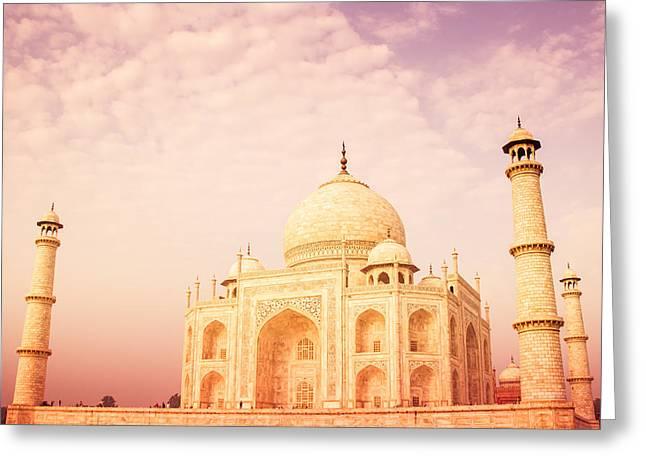 Hot Taj Mahal Greeting Card by Nila Newsom