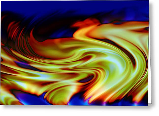 Abstract Digital Greeting Cards - Hot Wheels Greeting Card by Evelyn Patrick