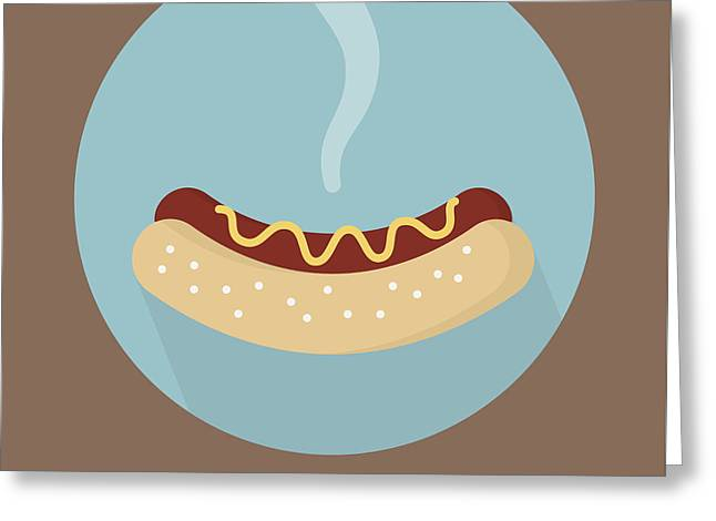 Hotdog Poster Print - Let Me Be Frank Greeting Card by Beautify My Walls