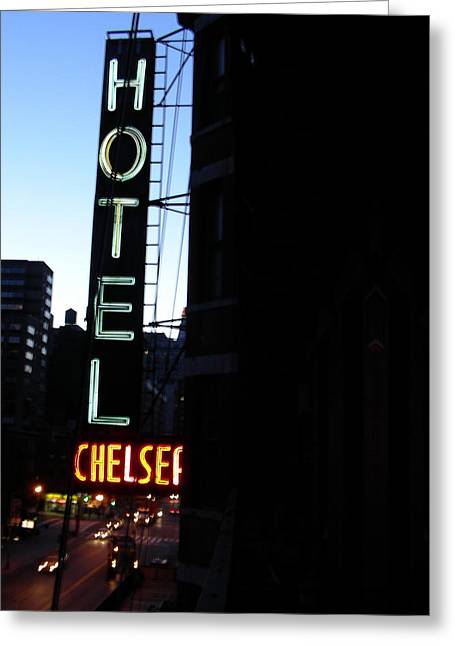 Chelsea Greeting Cards - Hotel Chelsea Greeting Card by Xavier Wasp