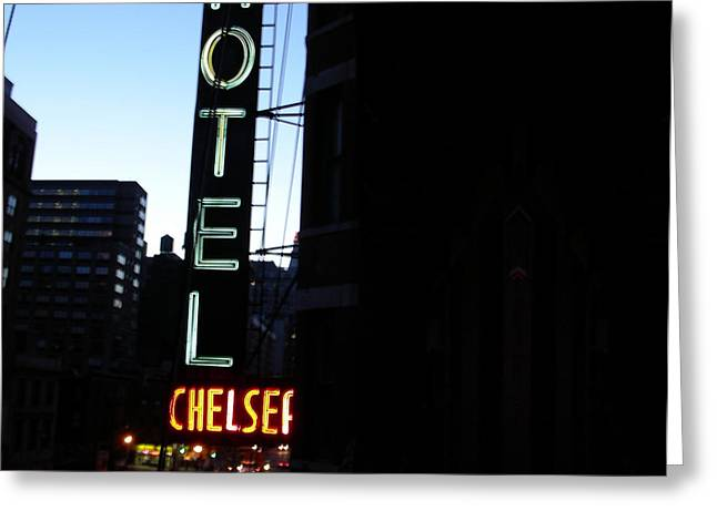 Hotel Chelsea Greeting Card by Xavier Wasp