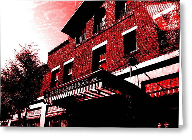 Ptsd Greeting Cards - Hotel Congress Greeting Card by Michelle Dallocchio