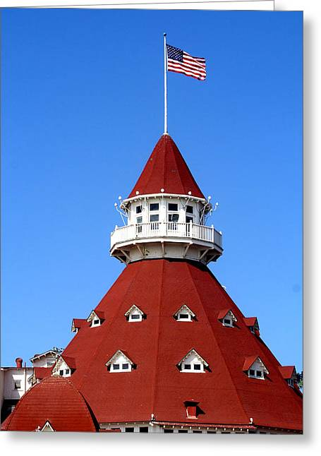 Patriots Framed Prints Greeting Cards - Hotel Del Coronado Greeting Card by Christopher Woods
