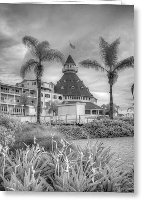 Infrared Photography Greeting Cards - Hotel del Coronado Greeting Card by Jane Linders
