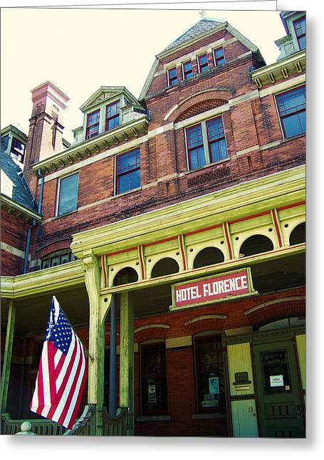 Planned Community Greeting Cards - Hotel Florence Pullman National Monument Greeting Card by Kyle Hanson