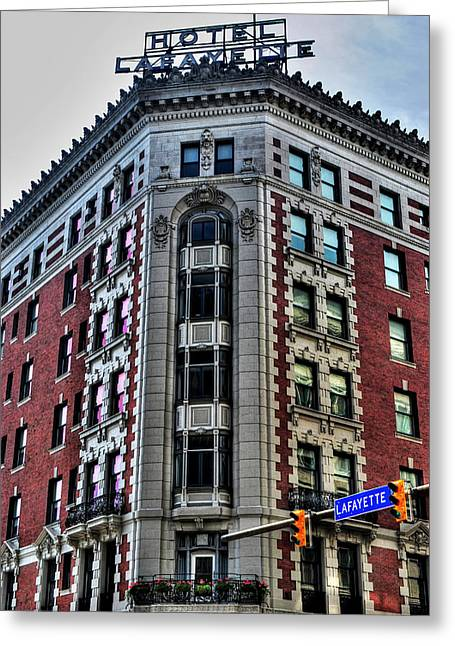 Hotel Lafayette Series 0003 Greeting Card by Michael Frank Jr