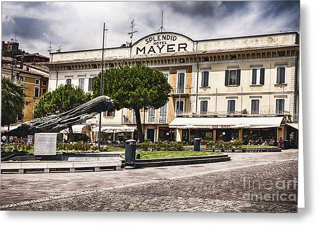 Union Terrace Greeting Cards - Hotel Mayer and Splendid Greeting Card by George Oze