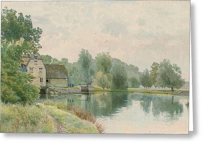 Beside Greeting Cards - Houghton Mill on the River Ouse Greeting Card by William Fraser Garden