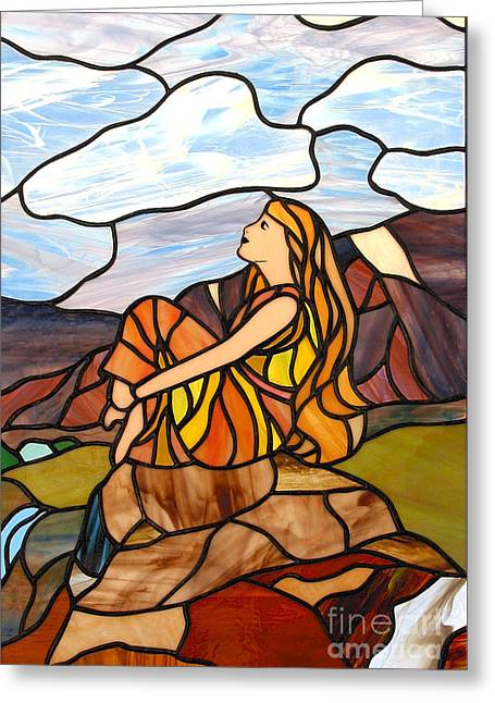 Meditation Glass Greeting Cards - Hour Of Peace And Rest Greeting Card by David Gomm