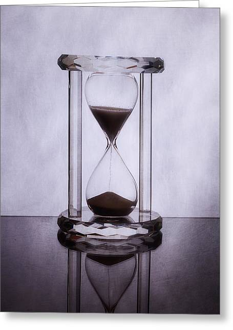 Hourglass - Time Slips Away Greeting Card by Tom Mc Nemar