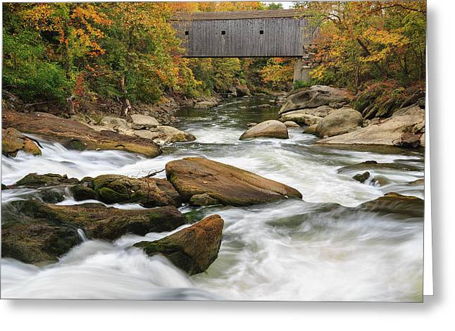 Autumn Landscape Photographs Greeting Cards - Housatonic River Bulls Bridge Connecticut Greeting Card by Bill Wakeley