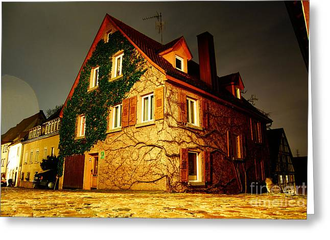 Rood Greeting Cards - House and tree Greeting Card by Cesar Marino