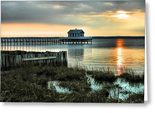 Framed Landscape Print Greeting Cards - House At The End Of The Pier II Greeting Card by Steven Ainsworth