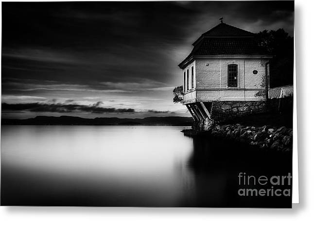 Europe Greeting Cards - House By The Sea Greeting Card by Erik Brede