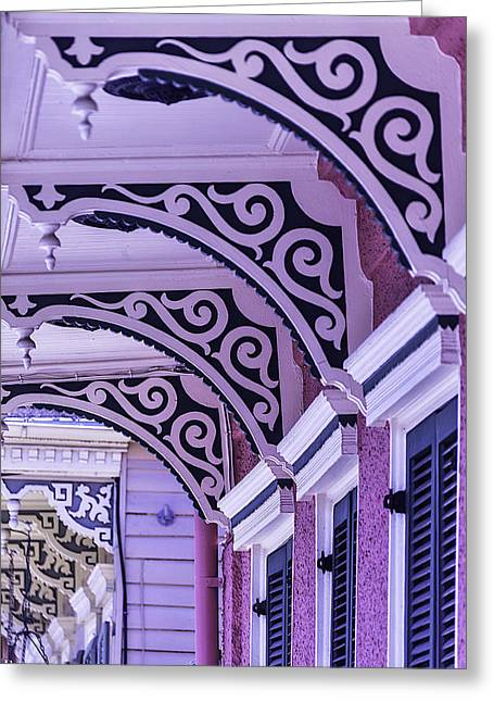 City Garden Greeting Cards - House Details Greeting Card by Garry Gay