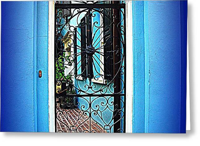 House Door 4 in Charleston SC  Greeting Card by Susanne Van Hulst