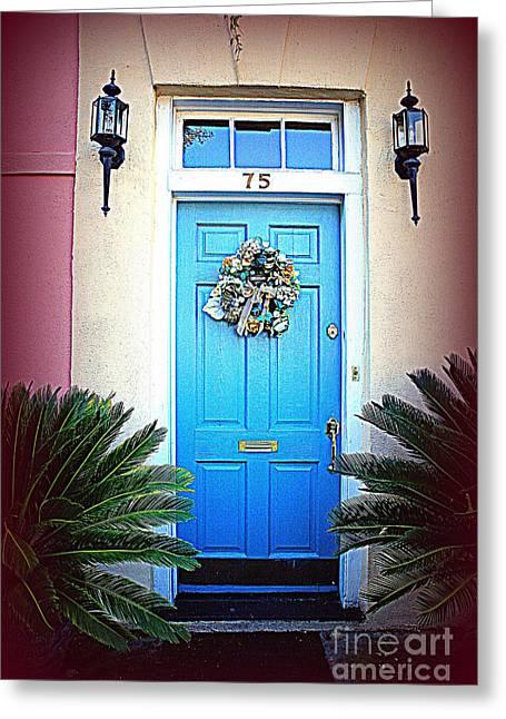 House Door 6 In Charleston Sc  Greeting Card by Susanne Van Hulst