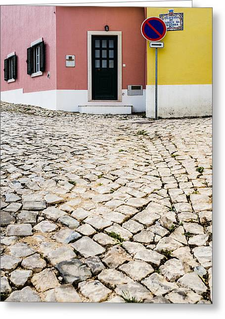Stepping Stones Greeting Cards - House Door With No Number Greeting Card by Marco Oliveira