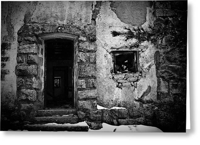 Abandoned Houses Greeting Cards - House Greeting Card by Felix M Cobos