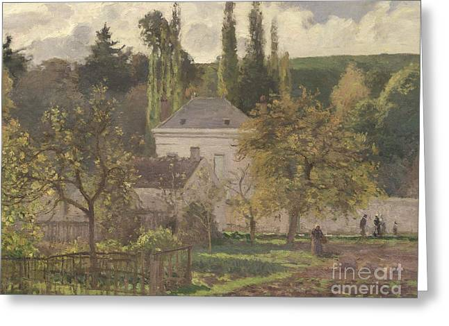 House In The Hermitage Greeting Card by Camille Pissarro