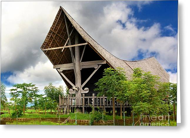 Sulawesi Greeting Cards - House in Toraja Greeting Card by Charuhas Images
