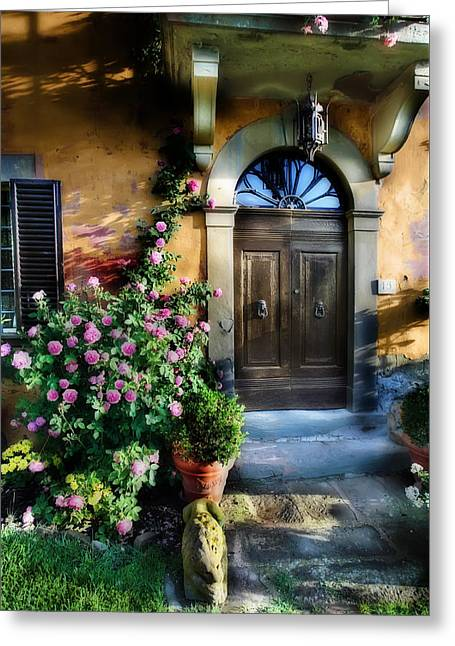 Verdant Greeting Cards - House in Tuscany Greeting Card by Al Hurley