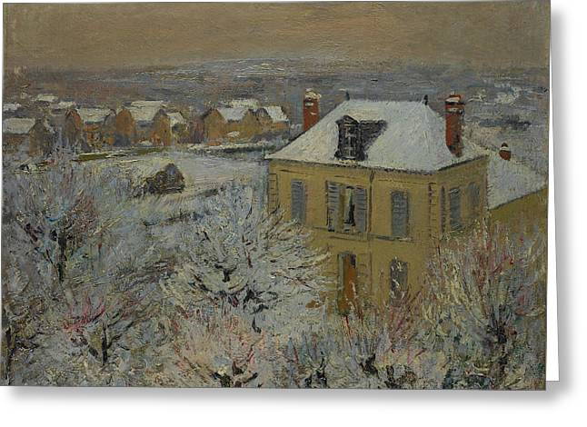 House In Winter Greeting Card by Gustave Loiseau