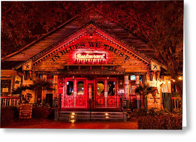 Florida House Greeting Cards - House of Blues Greeting Card by Paul Bartoszek