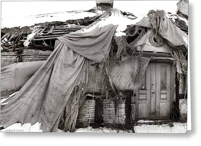 Ghost House Greeting Cards - House of Ghosts Greeting Card by Robert Lacy