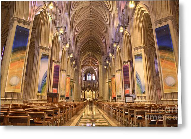 Episcopalian Greeting Cards - House of God II Greeting Card by Irene Abdou