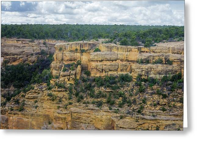 House Of Many Windows Mesa Verde Greeting Card by Joan Carroll