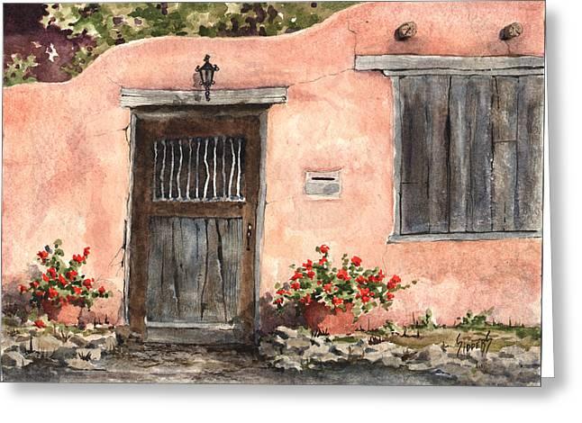 Adobe Greeting Cards - House On Delgado Street Greeting Card by Sam Sidders