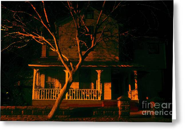 Haunted House Digital Art Greeting Cards - House on haunted hill Greeting Card by David Lee Thompson