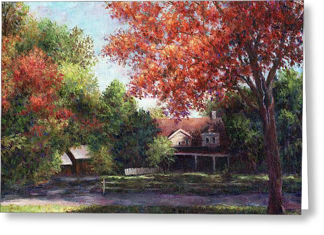 House On The Hill Greeting Card by Susan Savad