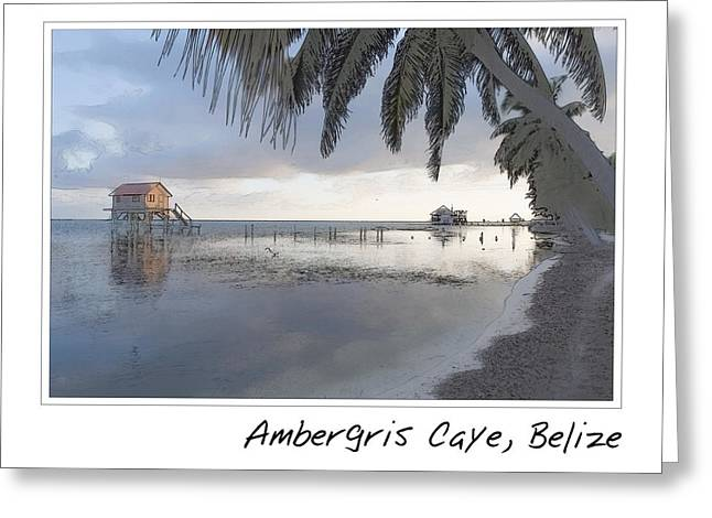 Belize Greeting Cards - House on the Ocean Greeting Card by Brandon Bourdages