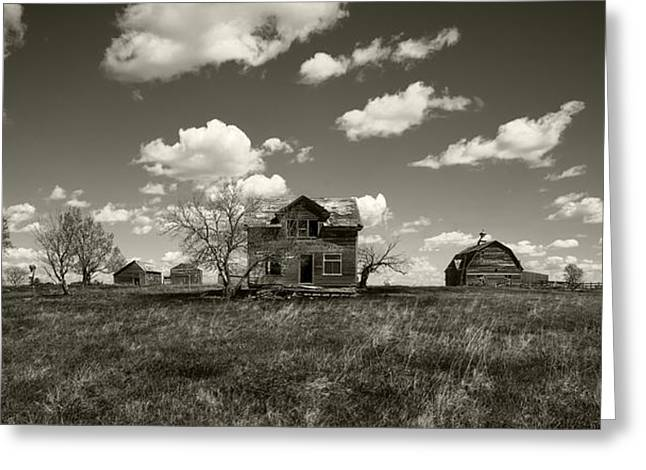 Run Down Greeting Cards - House on the Prairie Greeting Card by Patrick Ziegler