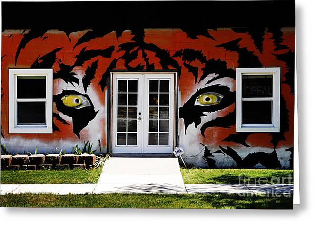 Outdoor Theater Greeting Cards - House Painted Like Bengal Tiger Greeting Card by Lane Erickson