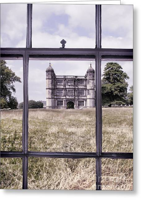 House Through Window Greeting Card by Amanda And Christopher Elwell