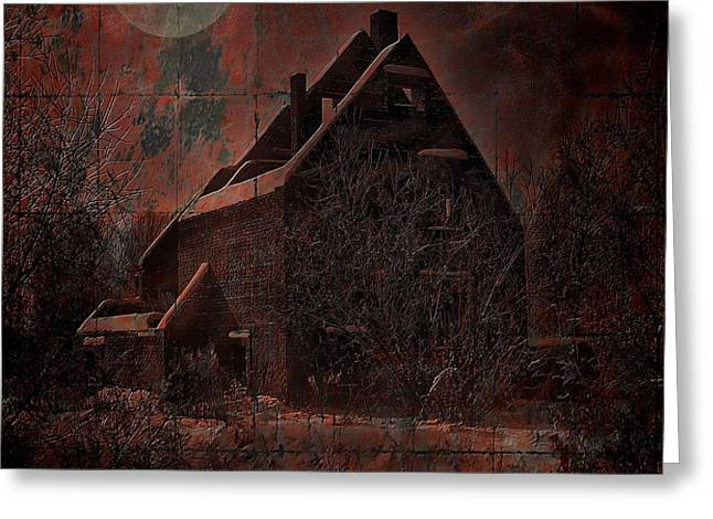HOUSE WITH A STORY TO TELL Greeting Card by Mimulux patricia no