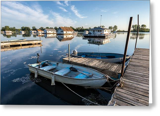 Fishing Boats Greeting Cards - Fishermans Cove Greeting Card by Matt Hammerstein