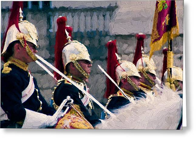 British Royalty Digital Greeting Cards - Household Cavalry Greeting Card by John K Woodruff