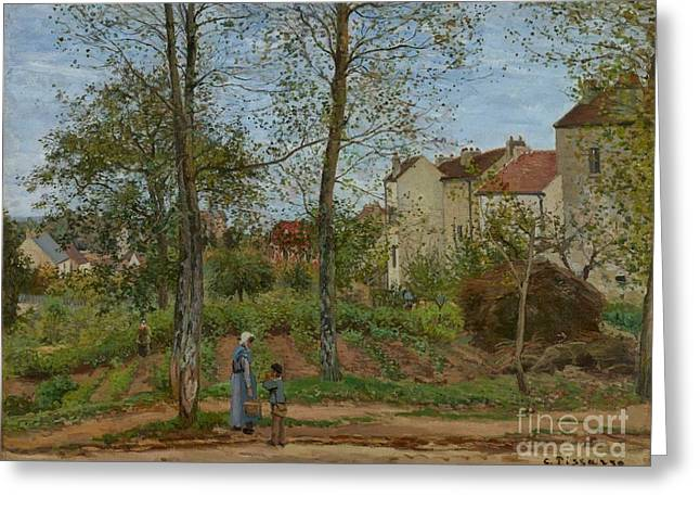 Bougival Greeting Cards - Houses at Bougival Greeting Card by MotionAge Designs